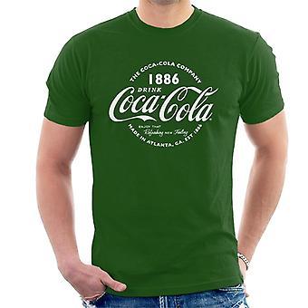 Coca Cola Retro Logo texte blanc T-Shirt homme