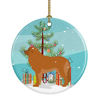 Carolines Treasures  BB2976CO1 Leonberger Merry Christmas Tree Ceramic Ornament