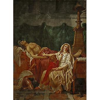Andromache Mourning Hector, Jacques-Louis David, 50x40cm