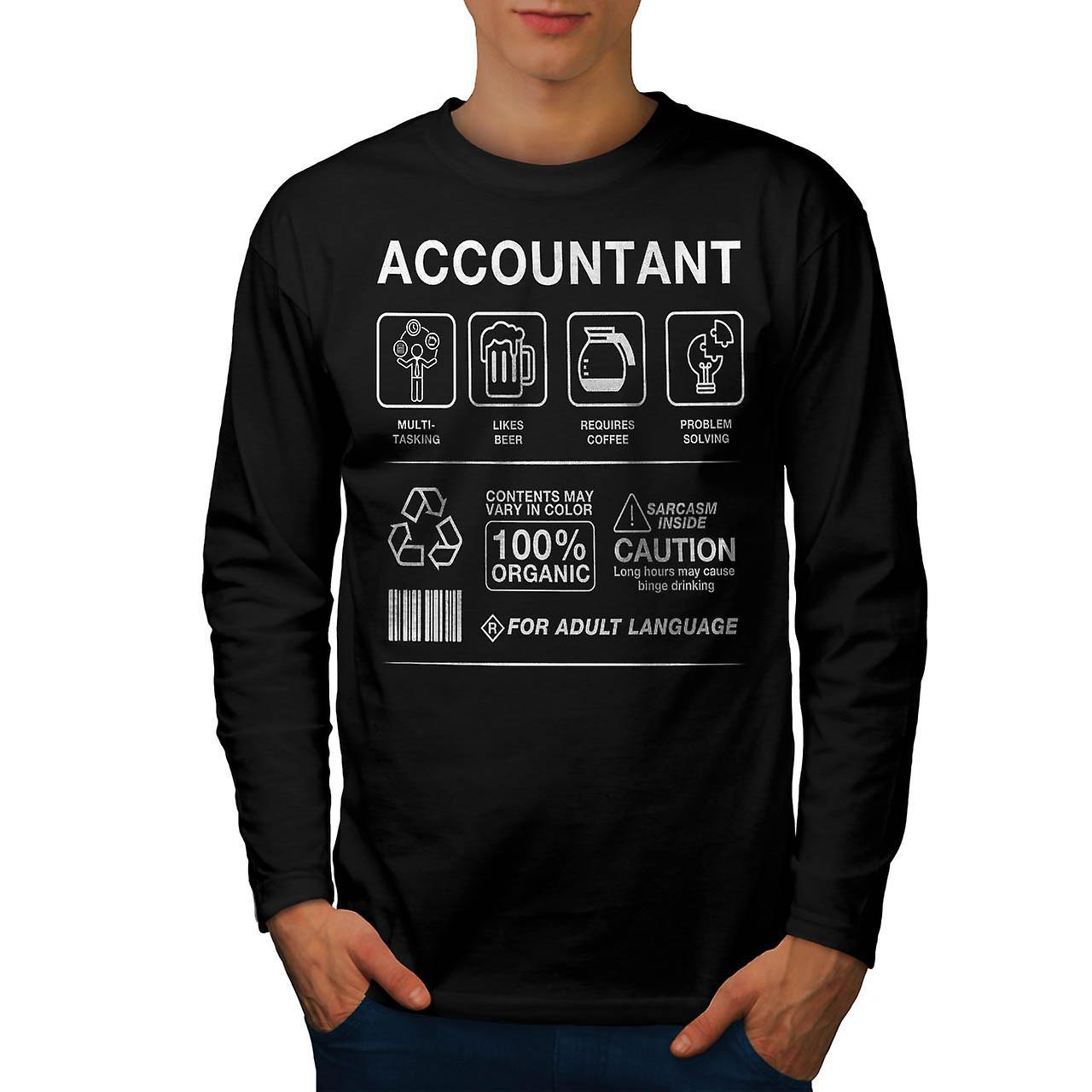 Revisor Multitasking menn BlackLong ermet t-skjorte | Wellcoda