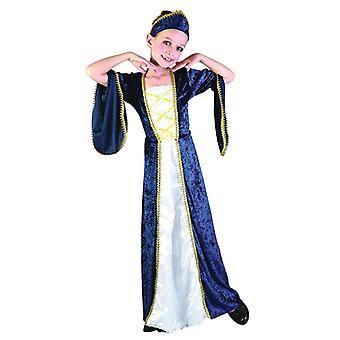 Regal prinsesse blå (Medium alder 6-8)