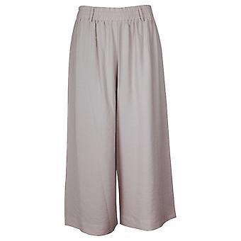 Crea Concept Women's Cream Wide Leg Jersey Culottes
