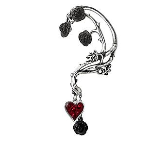 Alchemy Pewter Earrings Bed of Blood Roses Ear Wrap