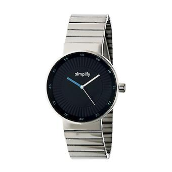 Simplify The 4600 Bracelet Watch - Silver/Cerulean