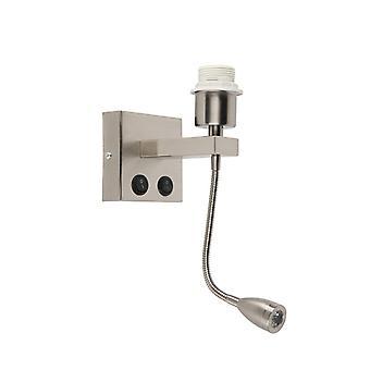 QA-QA Moderna lampada a parete in acciaio con braccio flessibile - Brescia Combi