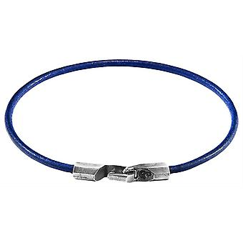 Anchor and Crew Talbot Round Leather Bracelet - Azure Blue