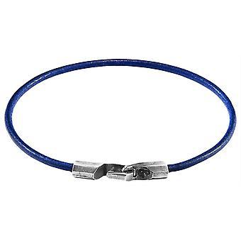 Якорь и экипажа Талбот круглый кожаный браслет - Лазурно-голубая