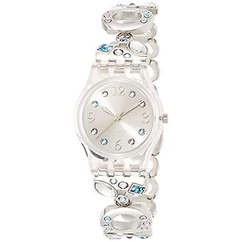 Swatch ladies analog quartz watch with stainless steel band _ LK 292G