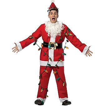 Ljus-Up Santa vuxen dräkt