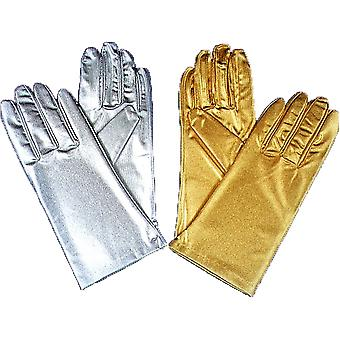 Gloves Reg Metallic Silver