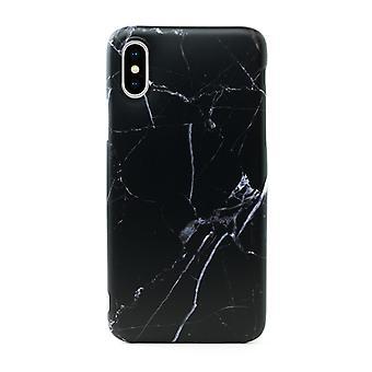 iPhone X/XS | Mykt, svart marmor etui