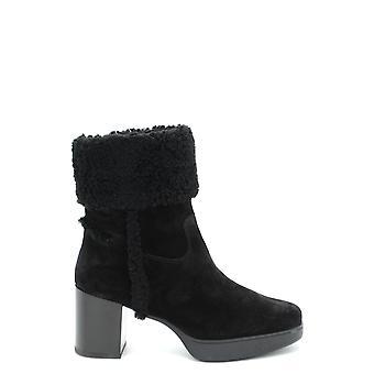 Tod's Ezbc025025 Women's Black Suede Ankle Boots