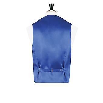 Dobell ragazzi blu gilet in Jacquard vittoriano Regular Fit