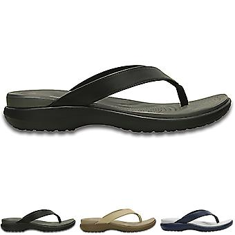 Womens Crocs Capri V Flip Comfort Beach Cut Out Lightweight Flip Flops
