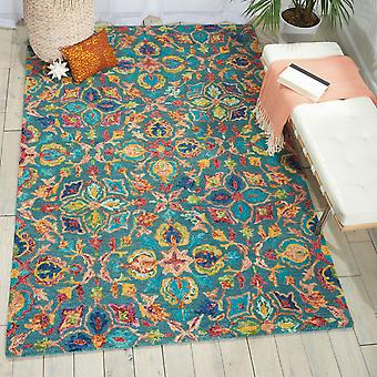 Vibrant VIB08 Teal  Rectangle Rugs Funky Rugs