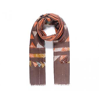 Intrigue Womens/Ladies Geometric Print Embellishment Scarf
