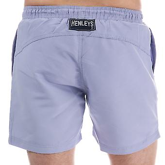 Mens Henleys Pastel Pack Swim Short In Thistle