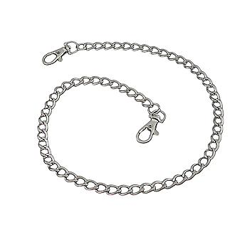 24 Inch Long Chrome Plated Link Wallet Chain