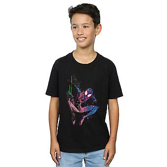 Marvel Boys Spider-Man Into The Spider-Verse City Colour T-Shirt
