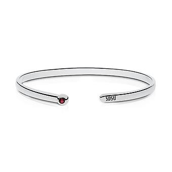 San Diego State University Garnet Cuff Bracelet In Sterling Silver Design by BIXLER