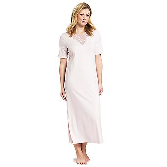Feraud 3191004-11577 Women's High Class New Rose Pink Cotton Night Gown Nightdress