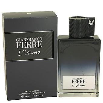 Gianfranco Ferre L'uomo Eau De Toilette Spray By Gianfranco Ferre   536583 100 ml
