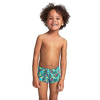 Zoggs Boys Automania hip racer svømme shorts-turkis/multi