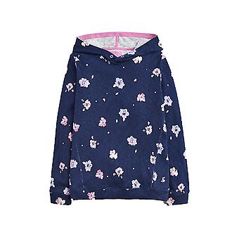 Joules Junior Marlston Printed Hooded Sweatshirt - Navy Petal Floral
