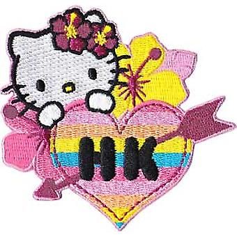 Patch - Hello Kitty - Hawaii Flower Iron On Licensed Gifts Toys p-hk-0003-g
