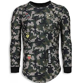 23th US Army Camouflage Shirt-Long Fit Sweatshirt-Green