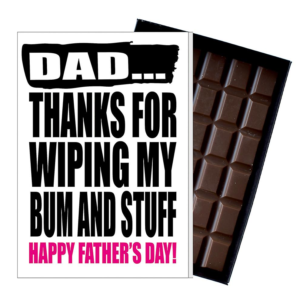 Funny Father's Day Gift Silly Chocolate Present Rude Card For Dad DADIYF125