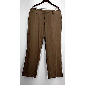 AB Studio Plus Pantalon straight Let w/ Side Pockets Green Womens