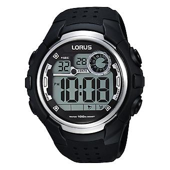 Lorus Digital Man Uhr Digital Quarz mit Silikon Armband R2385KX9
