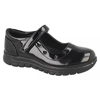 Spot On Girls Synthetic Star School Shoes