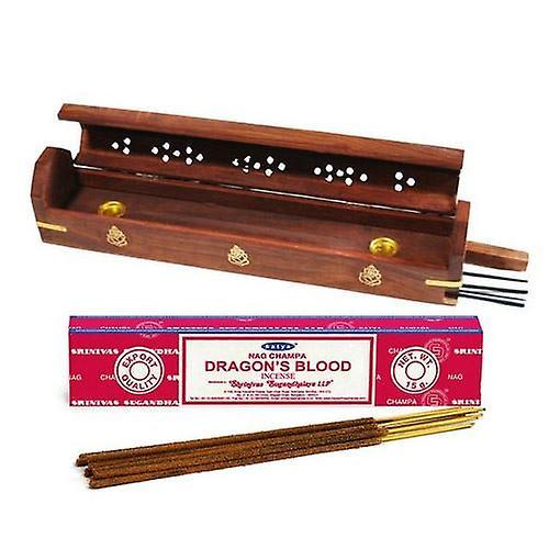 Ganesh Smoke Box with Free Satya Dragons Blood Incense Sticks
