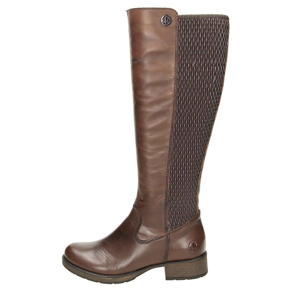 Rieker Leather Stretchy Flat Knee Boots Z9591-26