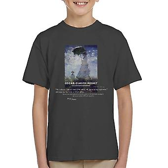 A.P.O.H Oscar Claude Monet Nature Quote Kid's T-Shirt