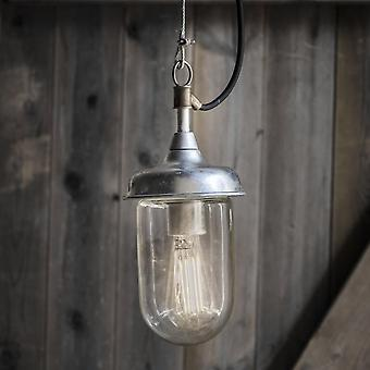 Garden Trading St Ives Harbour Galvanised Outdoor Pendant Light