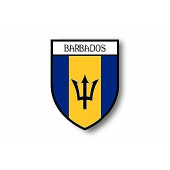 Sticker Adesivo Motorcycle Auto Blason City Bandiera Barbados