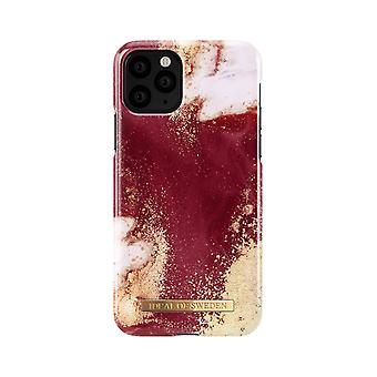 iDeal Da Suécia iPhone 11 Pro Shell-Golden Burgundy Marble