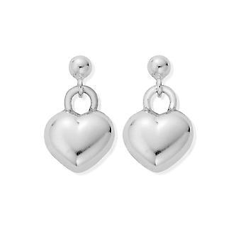 Chlobo Drop Puffed Heart Earrings SEDR155