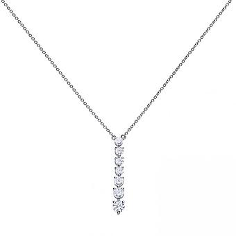 Diamonfire Silver White Zirconia Stick Collier Necklace N4234