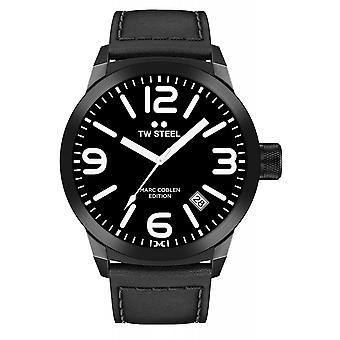 TW الصلب TWMC9 مارك Coblen الطلب الهاتفي الأسود ساعة اليد