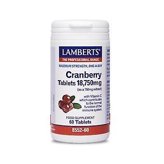 LAMBERTS karpalo 18; 750mg tabletit 60 (8552-60)