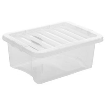Wham-opberg pakket van 5-16 liter Opbergdozen en deksels van kristal plastic