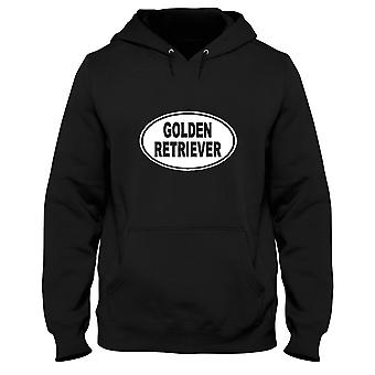 Black man hoodie fun1601 golden retriever oval