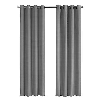 "52"" x 84"" Grey, Solid Blackout - Curtain Panel 2pcs"