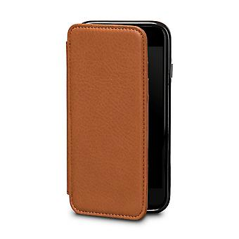 Case For iPhone 8 / IPhone 7 In True Leather Brown Card Holder