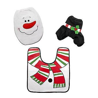 Toilet chair decoration, snowman