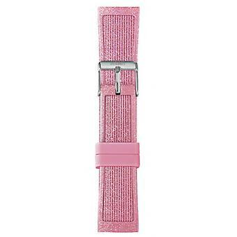 Watch I Am The Watch IAM-215 - Pink Glitter Steel Loop Bracelet / Medium 18 mm